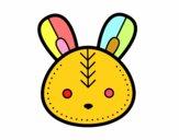 Visage de lapin de Pâques