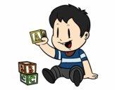 Enfant avec des pièces