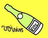 Bouteille de vin de champagne