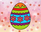 Œuf de Pâques florale