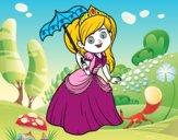 Princesse avec parasol