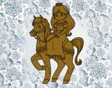 Princesse et coursier