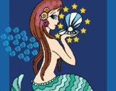 Sirène et perle