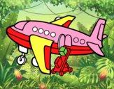Avion transportant bagages
