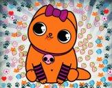 Coloriage Chaton emo colorié par JojoW