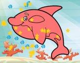 Coloriage Orque jeune colorié par Petit