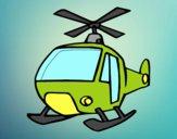 Coloriage Un Hélicoptère colorié par JojoW