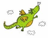 Dragon avec un cœur