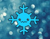 Flocon de neige kawaii