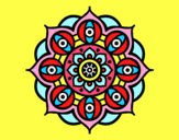 Mandala yeux ouvert
