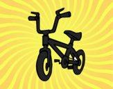 Coloriage Bicyclette enfantin colorié par raphael