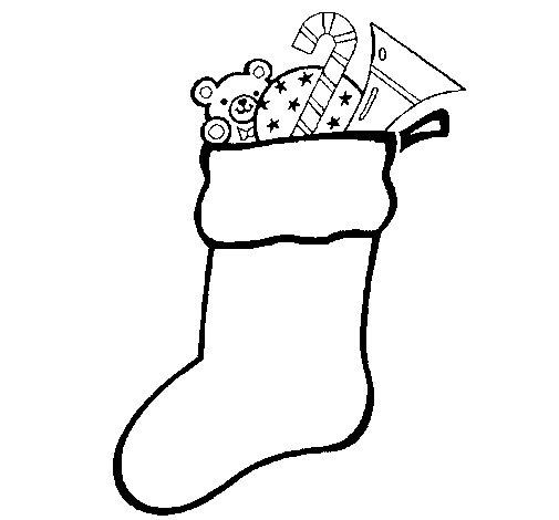 chaussette avec cadeaux