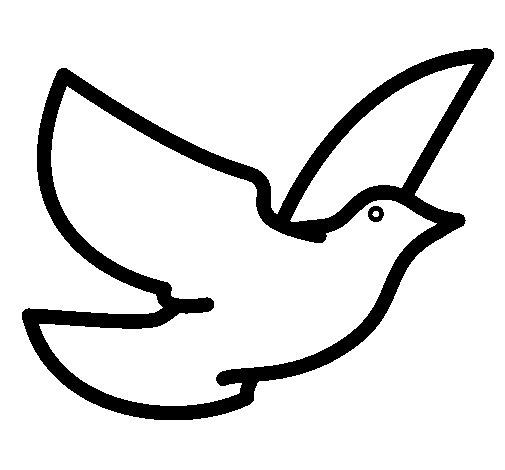 Coloriage de Colombe de la paix pour Colorier - Coloritou.com